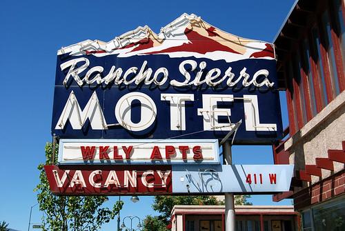 Rancho Sierra Motel -- sign motel neon reno rancho sierra nevada ranchosierramotel