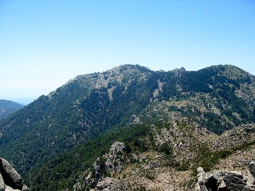 Depuis le col de Morellu-bis: col de Funtanella et la crête de Cagne derrière