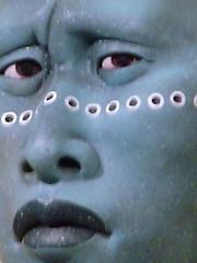 Am I Blue? (catface3) Tags: blue sculpture art face museum smithsonian dc mask modernart circles americanindian