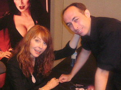 with Elvira (the_gonz) Tags: london film dark glamour breasts erotic comic geek convention horror cassandra fi mistress peterson con sci elvira