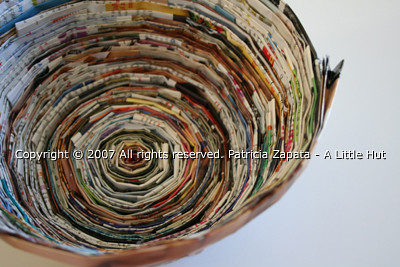 recycle project no. 7 - magazine bowl
