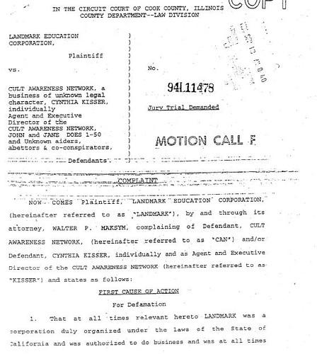 1994 Landmark Education v Cult Awareness Network