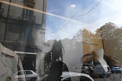 (.philippe.) Tags: reflection shop grenoble lumix reflet vitrine 2007 charlottegainsbourg lx2