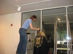 Leslie did install! (Leslan80) Tags: exhibit garments thebeautyofsacredgarments