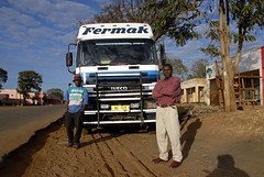 TRUCKING IN MALAWI (Claude  BARUTEL) Tags: africa portrait truck transport malawi driver iveco