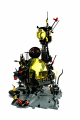 BlackTron Base (Chiefrocker9000) Tags: lego space slug base preview outpost glug moc blacktron swisslug blacktronbase