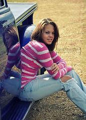 Kelsey (jinjur71) Tags: pink portrait reflection fall senior girl truck nikon purple outdoor stripes lifestyle naturallight jeans d90 memorycornerportraits gingersnapps