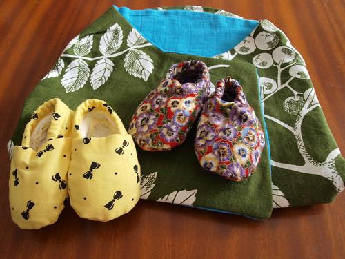 snuggler & shoes