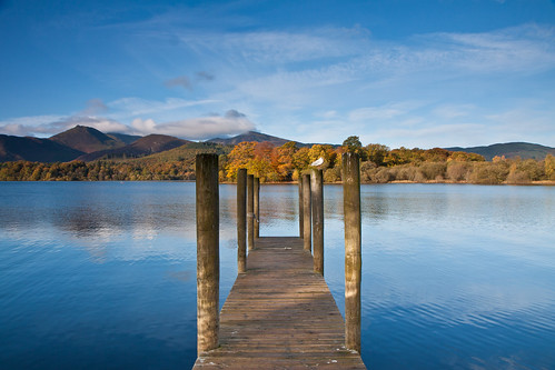 Derwentwater glows in the autumnal sunshine