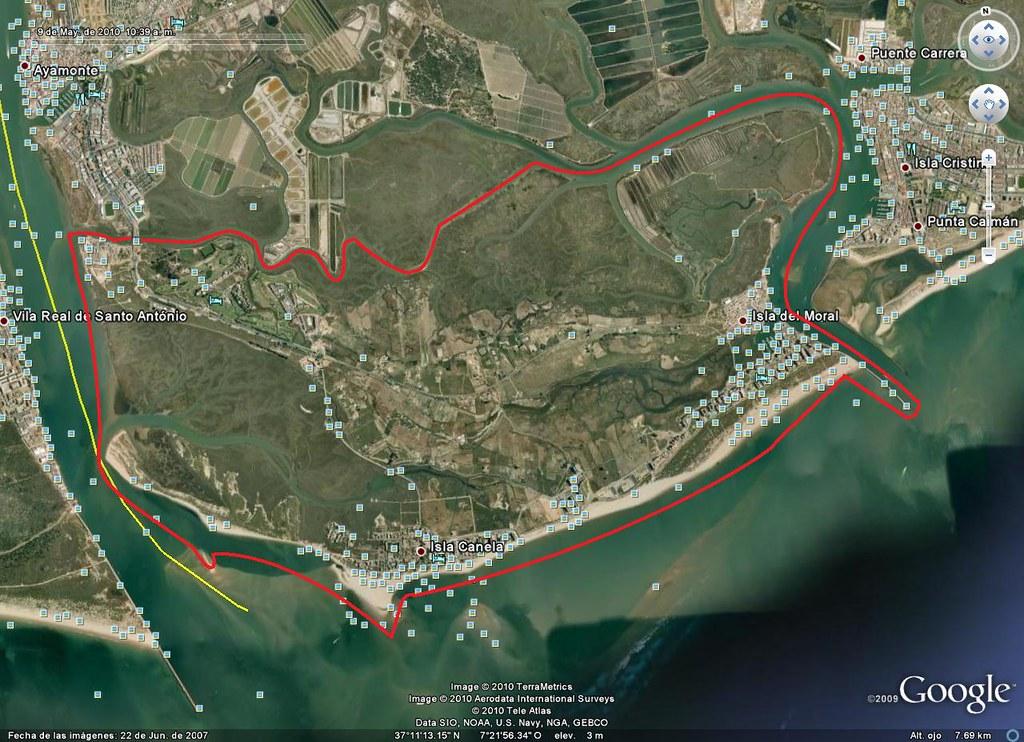 Punta del Moral-Los Caños-Ayamonte-Río Guadiana-Isla Canela