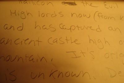 handwritten story