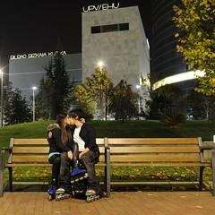 Enamorados (enekotas) Tags: love night noche library bilbao biblioteca enamorados