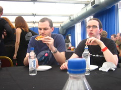 Matt and Gareth, frazzled and hungry