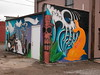 Near North Riverfront: High Voltage Tattoo murals in progress, south view This used to
