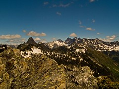 Looking northeast from the summit of Kendall Peak