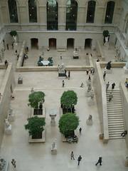 Louvre Interior Courtyard (WrldVoyagr) Tags: city paris france tree museum stairs louvre capital courtyard marble nv11 dopplr:explore=7k41