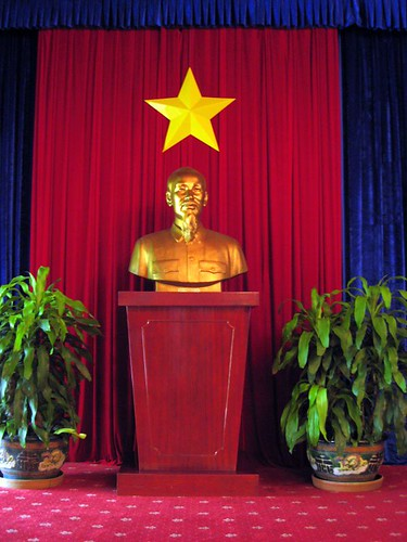 A bust of Ho Chi Minh