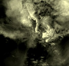 Growing into empty clouds (horriblecherry) Tags: light girl clouds dark death hurt eyes empty surreal desperation