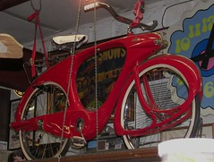 1960 Bowden Space Lander (Dusty_73) Tags: bike bicycle vintage space fresno farms fiberglass rare 1960 lander bowden spacelander simonian