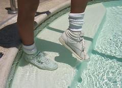 RFH in a pool (Sneakerluvr) Tags: wet fetish nike sneaker reebok