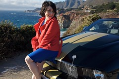 Briana and the Shelby | Big Sur, CA (ldandersen) Tags: california ford car bigsur mustang centralcoast shelbymustang brianamowrey