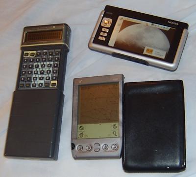 Psion Organiser II, Nokia 770, Handspring Visor Platinum