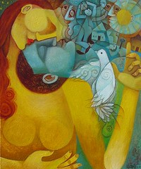 I'll see you in my dreams (Paul N Grech) Tags: moon bird art love modern painting peace sleep contemporary dove surreal romance dreaming fantasy dreams oil imagination daydream cubist cubism grech paulgrech