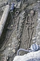 Weitere Gräber des alten Friedhofs wurden direkt vor der Heiliggeistkirche ausgegraben.