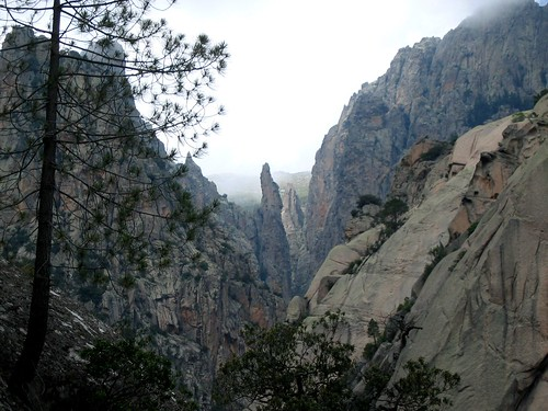 Canyon de Nura vu du ravin de Bocca Malandata