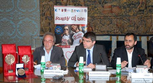 Conferenza stampa Rugby col Cuore - foto DAK