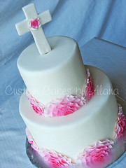 Can Can Communion (alana_hodgson) Tags: pink flowers cake cancan ruffle frill sweettreats