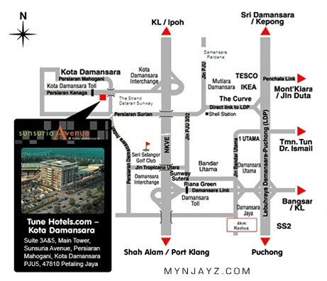 map-Tune Hotel Kota Damansara