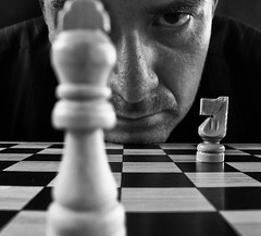 Homage to Philippe Halsman's - Bobby Fischer (HK Buckeye) Tags: portrait selfportrait male blackwhite image chess tribute bobbyfischer chessboard philippehalsman
