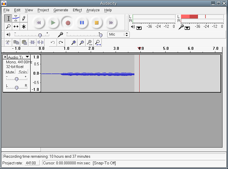 Recording with Audacity