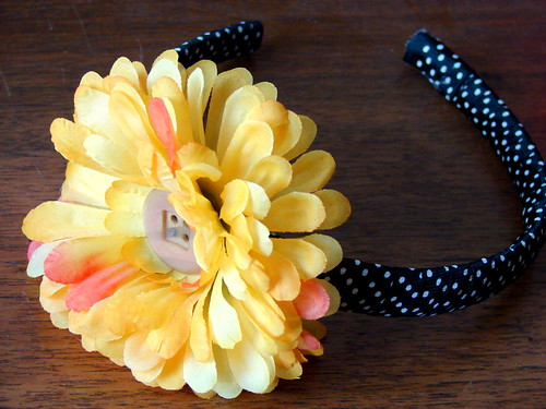 Daisy Polka Dot Headband