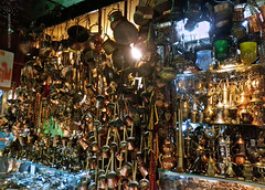 heaps and heaps of old turkish coffee related wares! (marianna - away for a while) Tags: old metal shop turkey store shiny europe antique traditional grand istanbul panasonic pots copper bazaar dishes crowded handcrafts wares glinting istnbul lumixg1 mariannaarmata