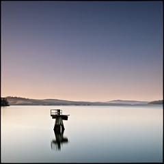 # (David Panevin) Tags: longexposure morning sky bw seascape beach water reflections landscape object jetty australia olympus tasmania e3 beforesunrise howden sigma1020mmf456exdchsm bwnd110 davidpanevin 274seconds