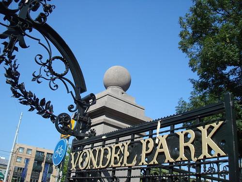 Portão de entrada do Vondelpark