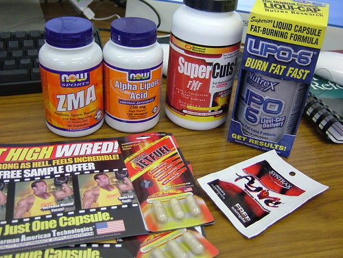 ZMA, alpha lipoic acid, super cuts, lipo6, fyre and jetfuel