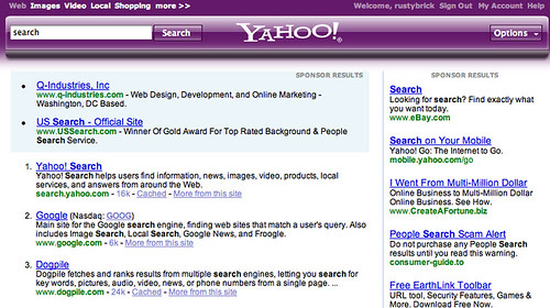 Yahoo Search Purple