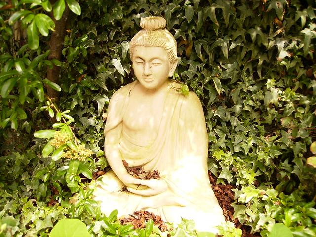 Brighton's garden   buddha and sculpture 3