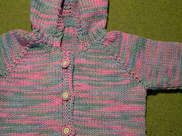 Baby Cardigan, close up