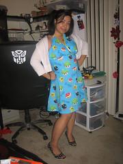 Super Mario Dress (Jaana Baker) Tags: game fashion asian video clothing dress handmade sewing super mario clothes wardrobe bros