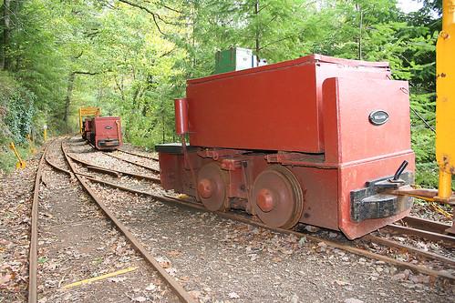 Battery Electric Mines Locomotives at Worwellham Quay, River Tamar, Devon