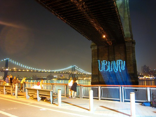 Grafitti on Brooklyn Bridge