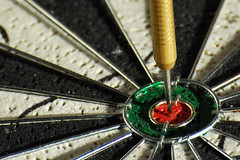 Bull's Eye (A. Saleh) Tags: lebanon game nikon searchthebest d200 darts asaad asaadsaleh 70300vr