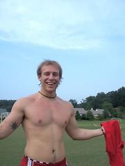 Blue Skies & Red Shorts_04 (nemo_434) Tags: shirtless men guys
