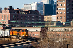 Eastbound on the Air Line (Nick Suydam) Tags: railroad chicago train rail ge bnsf burlingtonnorthernsantafe dash9 stcharlesairline