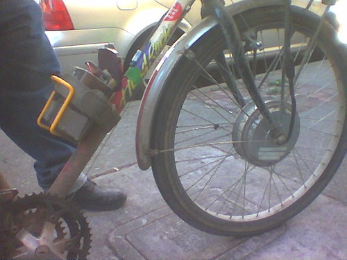 front wheel DC bicycle