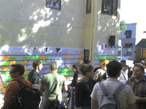 The Schedule Board at BarcampBlock 2007
